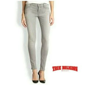 NWT-TRUE RELIGION WOMENS LONGGRAY STRGHT JEANS